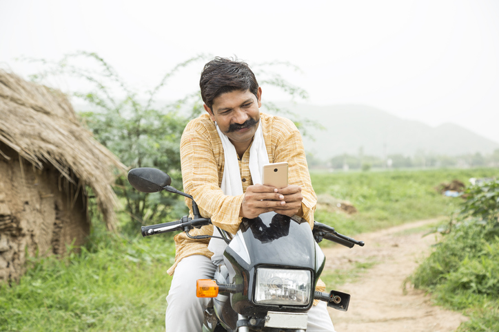Rural Man On Phone